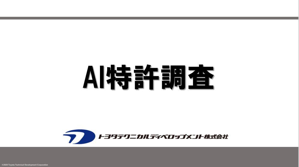 AI特許調査 DL資料 & 動画